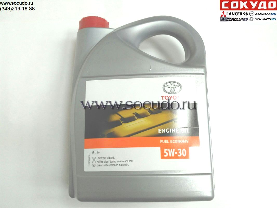 Toyota 5w30 5L cинтетика (Европа) Engine Oil Synthetic A3/B3/B4 SN